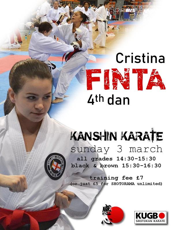 special guest instructor: sensei Cristina Finta 4th dan